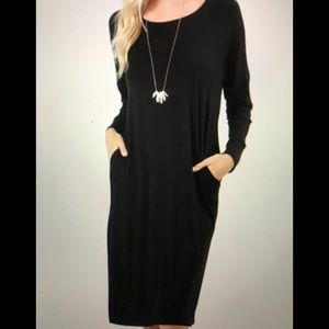 LS dress with pockets